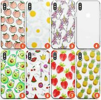 Fruity Patterns Slim Flexible Phone Case for iPhone | Fruity Cute Summer Pa
