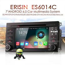 """Autoradio Erisin ES6014C 7"""" Android 6.0 Car Audio GPS DVD per Porsche Cayenne"""