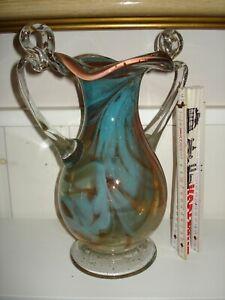 grosse Murano Glas Vase - bunte schlierige Einschmelzungen - 50/60er J -c460