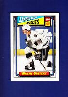 Wayne Gretzky LL Assists HOF 1992-93 Topps Hockey #123 (MINT) Los Angeles Kings