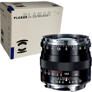 New ZEISS Planar T * 50mm f2 ZM for Leica M Lens - Black - COSINA Made in Japan
