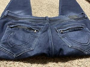TRUE RELIGION ROCCO RELAXED SKINNY DESIGNER MEN'S JEANS SIZE 44X33