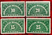 1925-55 US Special Handling Stamps SC#QE1-QE4 Light Green MNH/OG