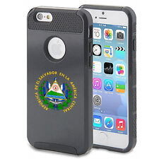 For iPhone X SE 5s 6 6s 7 8 Plus Shockproof Case El Salvador Escudo Coat of Arms