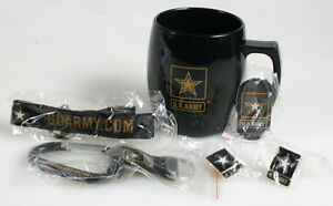 US ARMY BLACK BREAK RESISTANT ACRYIC COFFEE MUG AND ACCESSORIES