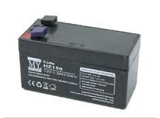 Batteria ermetica ricaricabile al piombo 12V 1.3Ah con faston sirena allarme