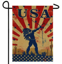 "USA NATIVE AMERICAN INDIAN GARDEN BANNER/FLAG 12""X18"" SLEEVED POLY"