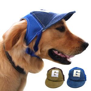 Dog Baseball Cap Cowboy Duck Hat with Ear Holes Summer Visor Breathable Mesh Air