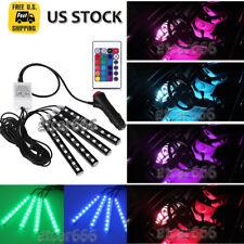 4PCS 5050SMD RGB Glow Interior LED Strip Under Dash Seat Footwell Lighting Kit
