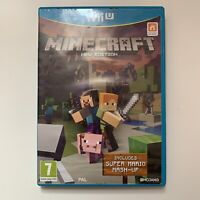 Nintendo Wii U Game - Minecraft - Tested - Full Working Condition