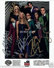 "The Big Bang Theory Reprint Signed 8x10"" Cast Photo #3 RP Autographed"