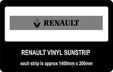 Renault sun strip / window banners
