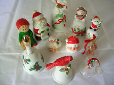 BELLS...VINTAGE HOLIDAY BELLS, ADD THEM TO YOUR COLLECTION  ( 11 TOTAL )