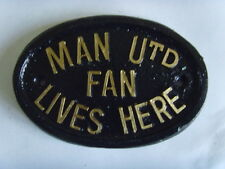 MANCHESTER UTD  RED DEVILS MAN UTD  FAN FOOTBALL  HOUSE PLAQUE SIGN