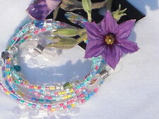 "Eyeglass Chain Handmade~Carnival Pastel~Crystal Accents~28""~Buy 3 SHIP FREE"