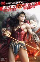 JUSTICE LEAGUE VS SUICIDE SQUAD #1 ARTGERM COLOUR VARIANT DC COMICS