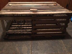 vintage wooden lobster trap