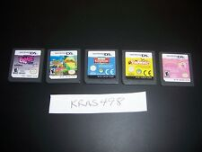 5 Nintendo DS DSi Lite Games - All Working - GREAT DEAL/GIFT-Titles Shown-#M10