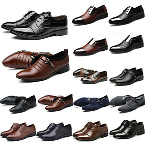 Mens Wedding Pointed Toe Oxfords Business Formal Work Party Smart Casual Shoes
