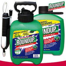 Roundup 2,5L Speed Drucksprühsystem + 2,5L Fertigmischung Unkraut Bekämpfung