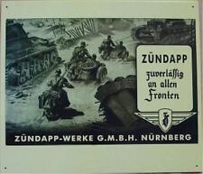 Rabatt !! Blechschild Zündapp Militär Panzer Wehrmacht Soldat Front 2WK N1609