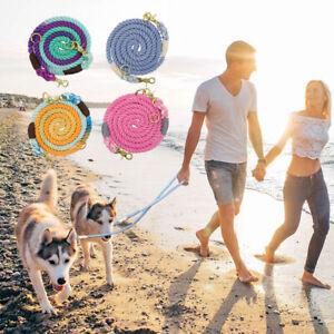 6FT Heavy Duty Braided Dog Leash Adjustable Large Dog Rope Leads 5 Ways Using