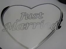 4 boxes Just Married Wedding Car Vinyl Window clings Decal Sticker 6 Clings