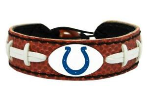 Indianapolis Colts Classic Football Leather Bracelet