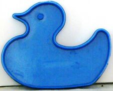 EUC Cookie Cutter DUCK Rubber DUCKIE Plastic BLUE w/Handle 2  x 2.75