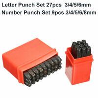 4-8MM  Numeri & Lettera Pugno Set Timbro di Metallo Acciaio Strumento Timbratura
