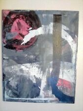 Abstract paintings on canvas original. Quarantine art. 16x20in