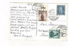 1952 Altena Germany View Card Mixed Franking Semmering Austria Ballonpost