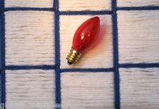 BOX of 24 } TWINKLe Orange AMBER Tint blinking flashing CHRISTMAS LIGHT bulb C7