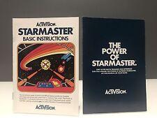 ATARI 2600 Starmaster Instruction Manuals