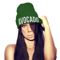 Avocado Beanie Hat Embroidery Womens Girls Mens Veg Fruit Healthy Recipe beenie