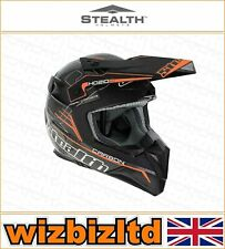 Stealth Motorcross Motorcycle Helmet [Adult Small] [HD210 Orange] STH151S
