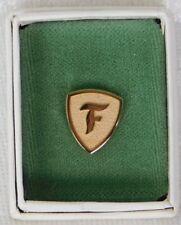 VTG 1960's FIRESTONE Tires Gold Tone Employee Service Pin Award w/ Box