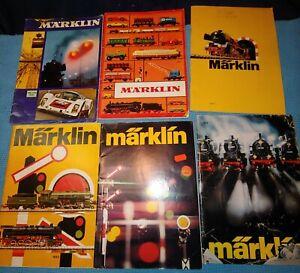 Marklin HO Catalogs Lot Of 6 1969, 1972, 1973, 1974, 1976 & 1977