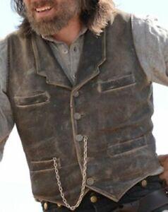 Hell on Wheels Cullen Bohannon Men's Real Leather Vest