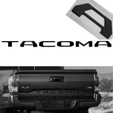Matte Black Finish 3D Tailgate Letter Pieces For 2016-2019 Toyota Tacoma