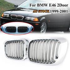 Chrome Front Kidney Grille Grill For BMW E46 325Ci 330Ci 328i 3-Series M3 2 Door