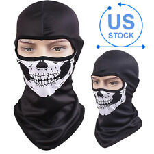 Skull Ghost Halloween Balaclava Cosplay Full Face Cover Tactical Helmet Liner