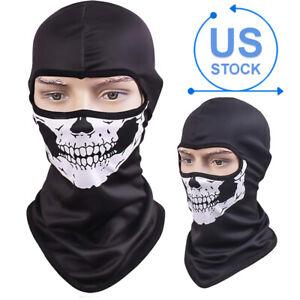 Skull Ghost Halloween Balaclava Cosplay Full Face Cover Tactical Helmet Liner