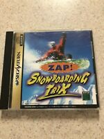 ZAP! Snow Boarding Trix For Japanese Sega Saturn System  *USA Seller* TESTED