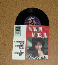 Single Wanda Jackson Komm heim mein Wandersmann Oh lonesome me Capitol K23091