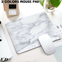 Mouse Pad Marble Pattern Anti-Slip Desk Keyboard Gaming Computer Mat Office Home