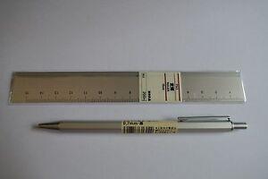 MUJI Japan Aluminum Black color ball pen 0.7mm Aluminum ruler set