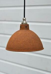 Rusty barn pendant light industrial style workshop hanging ceiling lamp R6SR4