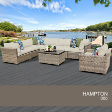 Hampton 8 Piece Outdoor Wicker Patio Furniture Set 08b