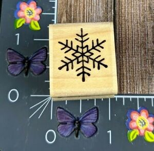 Stampabilities Itty Bitty Snowflake Snow Winter Rubber Stamp 2008 Wood #B63